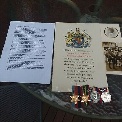 Ww2 Australian Burma Pow Died Medal Group Nx26070 & Memorial Scroll & Pictures