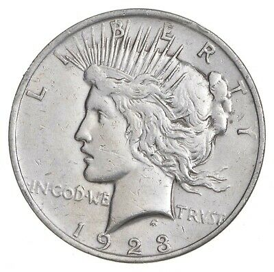 Early - 1923 - Peace Silver Dollar - 90% US Coin *036