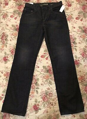 Gap Boys Straight Black Jeans 1969 Size 14 Regular Adjustable Waist