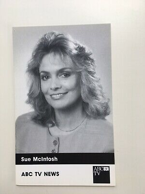 Tv Fan Card Abc Tv News Sue Mcintosh Free Postage
