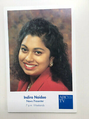 Tv Fan Card Abc Tv News Indira Naidoo Free Postage