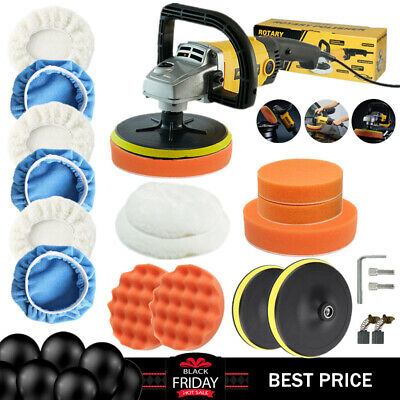 1200W 180mm Car Polisher Variable 6 Speed Buffer Sander Polishing Machine Polish