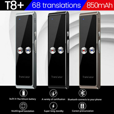 Translaty Smart Instant Real Time Voice 68 Languages Translator 850mA T8+ NEW