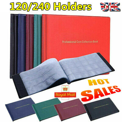 240 Coin Album Penny Money Storage Book Case Folder Holder Collection Collectors