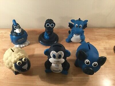Collectable ANZ Money Boxes X 6