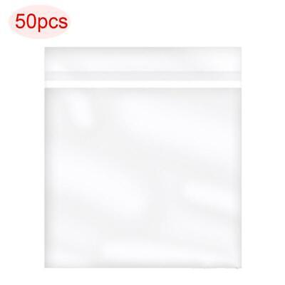 50PCS OPP Gel Record Protective Sleeves Self Adhesive Bag For 7'' Vinyl Records