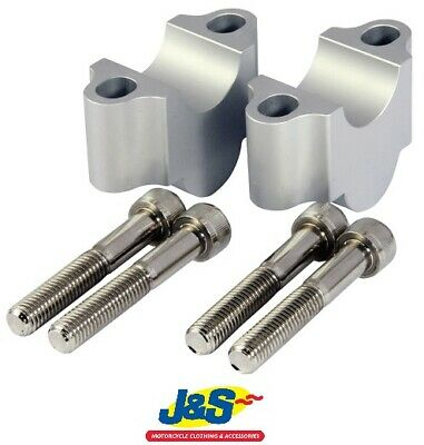 Bike It Aluminium CNC 30MM Riser 22.2 Motorcycle Height BARRIS04 Accessory J&S