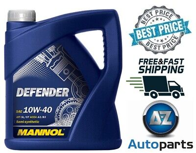 Mannol - Defender 10W40 Synthetic Car Engine Oil Semi MB229.1 501.01/505.00 - 5L