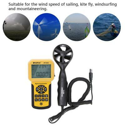 Handheld Digital Wind Speed Gauge Meter Anemometer Air Thermometer