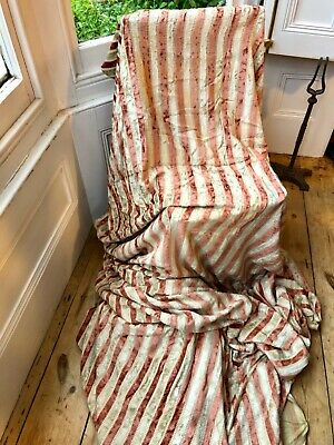 Vintage/Antique Silk Velvet Fabric Striped Cream/Rose Colourway Upholstery?