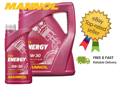 Mannol - Energy 5W30 Synthetic Car Engine Oil SL/CF ACEA A3/B3 - 6L