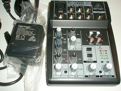 BEHRINGER xenyx 502 premium 5 input 2 bus mixer,NEW,w/power pack,no box,DEAL.
