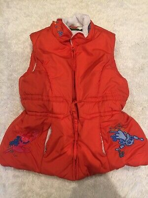 Age 8 Super Condition Orange Quilted And Fleece Lined Oilily Winter Gilet ☃️❄️☃️