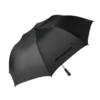 UMBRELLA McLaren Formula One Team F1 NEW! Black Compact Automatic Brolly