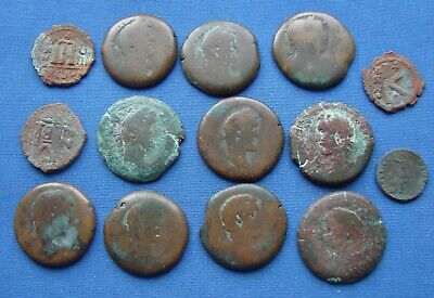 *Nice Assorted Lot Of Various Ancient Roman & Byzantine Coins - Estate Fresh*