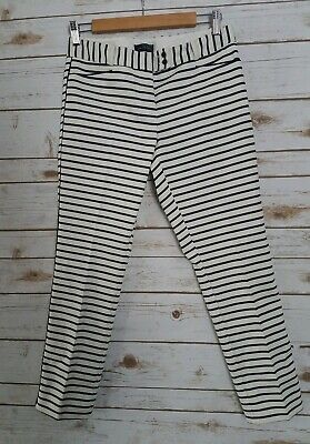 The limited Striped Cropped Dress Pants Women's Size 4