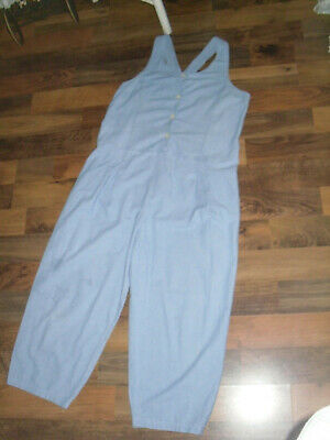 Laura Ashley 90S Denim Romper Jumpsuit 14