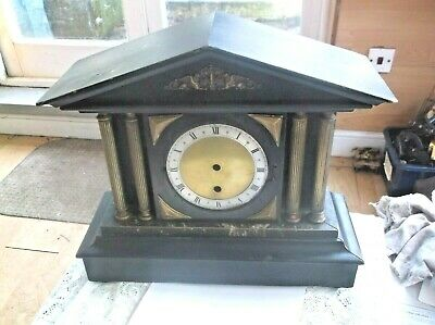 A Beautiful Wooden Mantle Clock (Case Only)  For Restoration