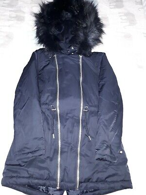 Girls winter  Coat 9-10  140 cm F&F  good condition