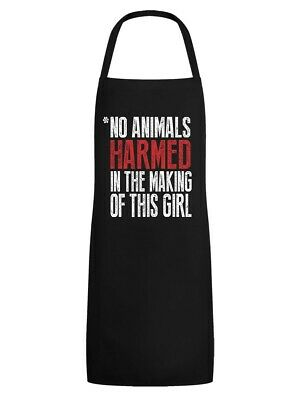 Apron Vegan Vegetarian Disclaimer Black