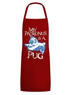 Apron My Patronus Is A Pug Red