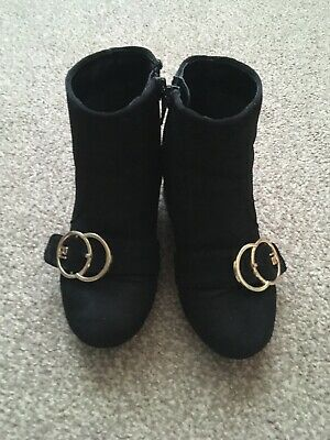 River Island Girls Black Boots Size 10