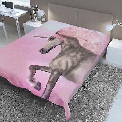 Dreamscene Large Unicorn Mink Snug Cosy Luxury Throw 150cm x 200cm