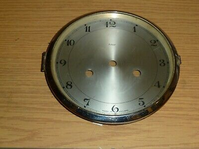 Hinged glazed clock bezel with dial - from Enfield mantel clock c1930