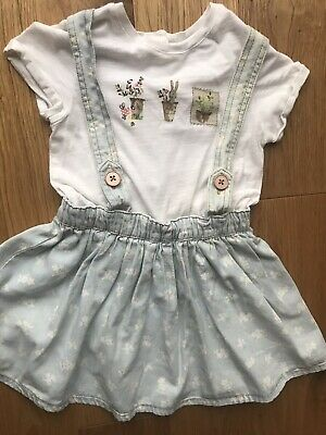 NEXT Girl's Smart Dress Age 2-3 Years. Pinafore Style, One Piece Outfit