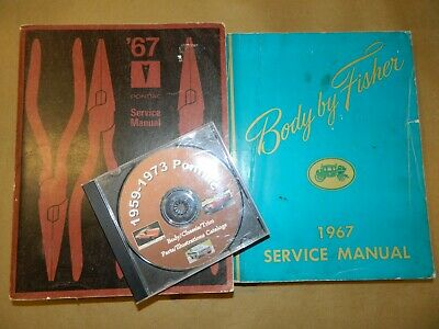 1967 PONTIAC ORIG! Service_Owners Manual 4 pc SET_GTO/Lemans/Tempest/Bonneville