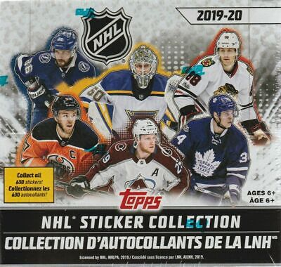 2019 2020 Topps NHL Hockey EXCLUSIVE Stickers Box of 50 Packs with 250 Stickers