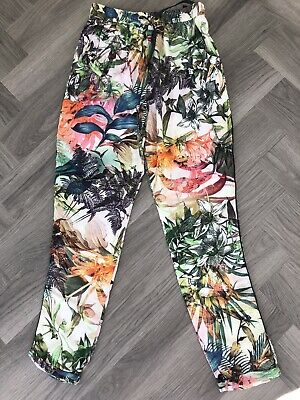 Girls NEXT Tropical Print Trousers Aged 12 Years