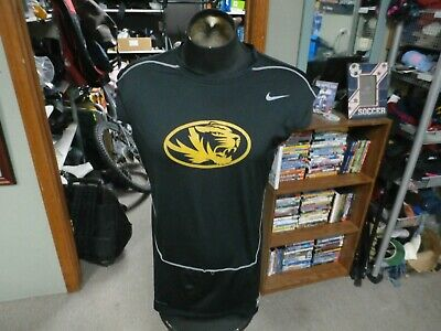 Missouri Tigers black Nike Pro Combat sleeveless compression shirt 3XL #26759