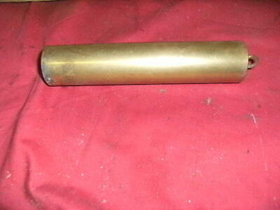 One Brass Cased Longcase Grandfather Clock Weights antique1