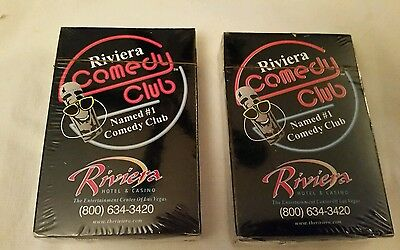 MIP Set of 2 Pack Riviera Hotel & Casino Comedy Club Las Vegas Playing Cards