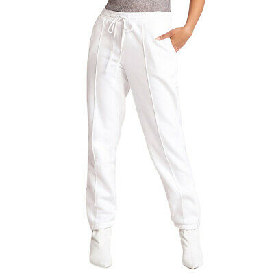 BB Dakota Womens Hang Time Sweat Pants Optic White M New