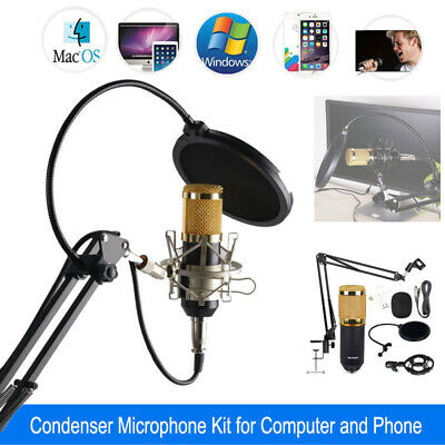 BM-800 Wired USB Studio Condenser Microphone Tool Kit For Phone iphone Computer