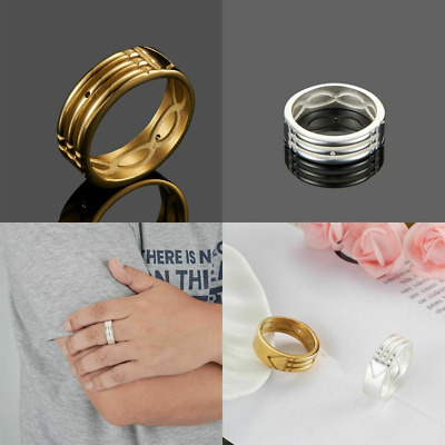 Atlantis Ring Gold Silver Plated Stainless Steel Anillo Atlante Acero Inoxidable