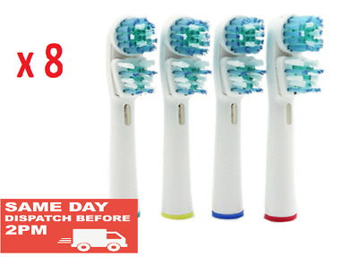8 Electric Toothbrush Heads Compatible Braun Oral B Dual Clean Toothbrush Heads