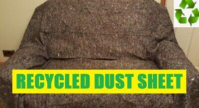 5 x QUALITY RECYCLED HEAVY DUTY COTTON MIX DUST SHEETS ECO FRIENDLY