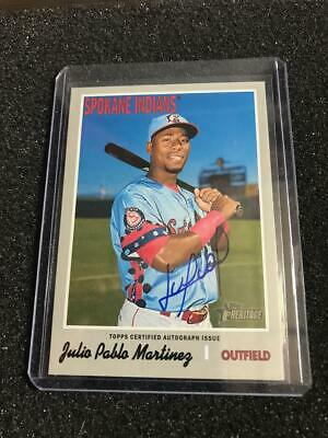 2019 Topps Heritage Minor League Real One Autographs Auto Julio Pablo Martinez