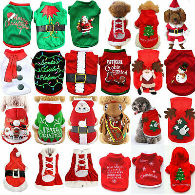 Cute Pets Dog Teddy Knitted Sweater Christmas Gifts Winter Warm Knitwear Clothes