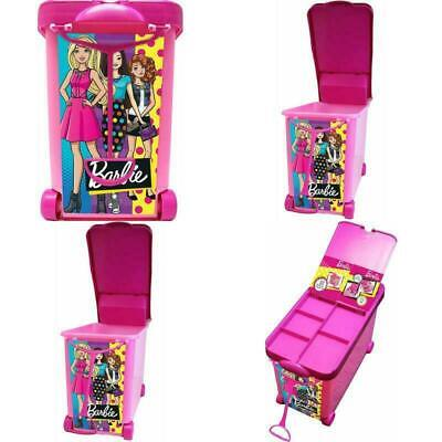 Portable Trunk With Handle And Wheels Tara Toys Barbie 20-Doll Store It All Pink