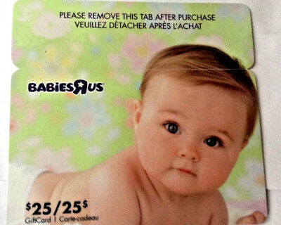 Toysrus Cute Baby Gift Card Rechargeable Bilingual ! Unscratched