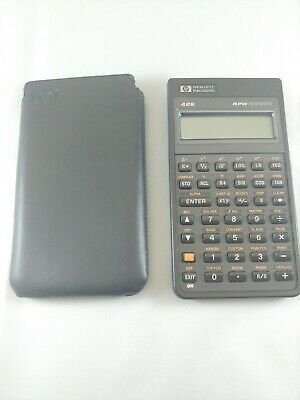 1987 HP 42S Scientific Calculator With Leather Sleeve W/ Brand New Batteries