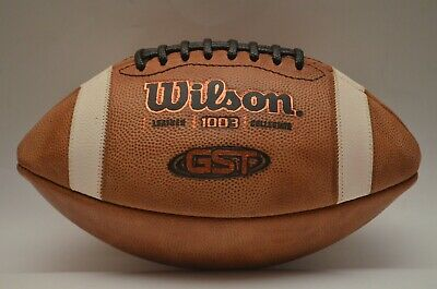 Wilson GST 1003 Leather Collegiate Football (new without packaging)