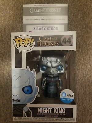 Night king metallic Rare funko pop + Game of Thrones Complete Series Digital HD