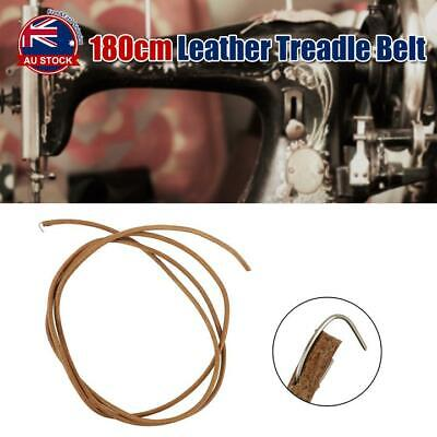 180CM Leather Treadle Belt Replacement Parts w/ Hook For Singer Sewing Machine A