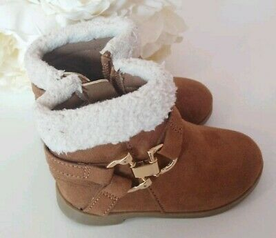 Girls Brown River Island Boots Size 3