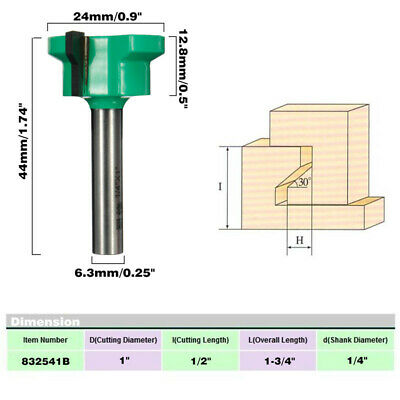 1/4 Inch Shank Drawer Front Joint Router Bit for Woodworking